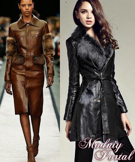 новые модели кожаных пальто