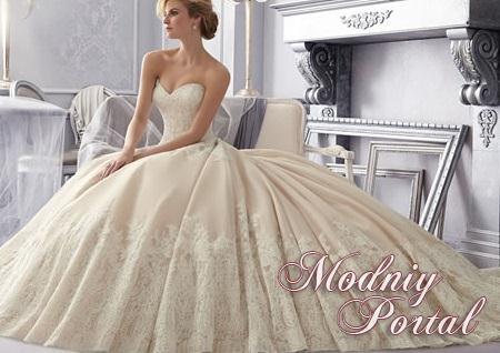 и дорогие свадебные платья 2015. Фото