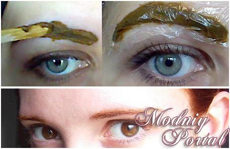 покраска бровей хной отзывы фото до и после