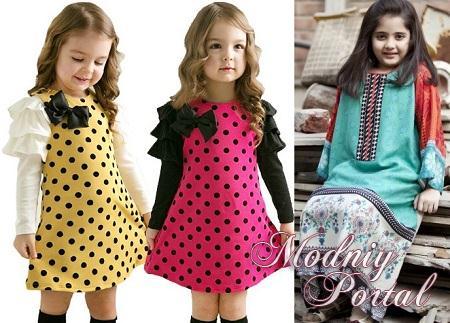 Модели детских платьев повседневных