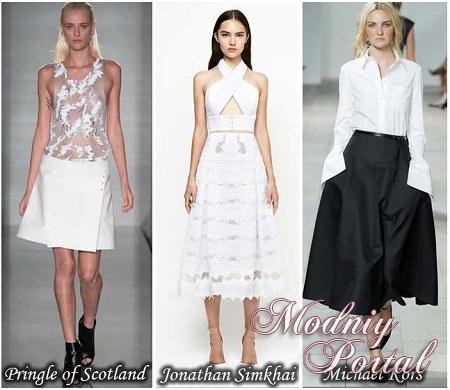 Белые юбки в пол