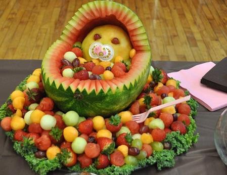 фото украсить стол фруктами фото