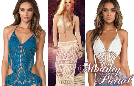 Купальники вязаные крючком. Модное лето 2014 | Мода 2014 | Мода