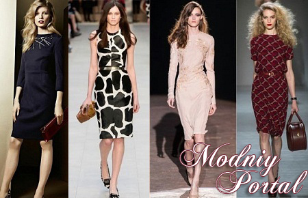 Модные офисные платья весна-лето 2014. Фото. Офисная мода 2014