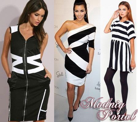 Макияж под черно-белое платье