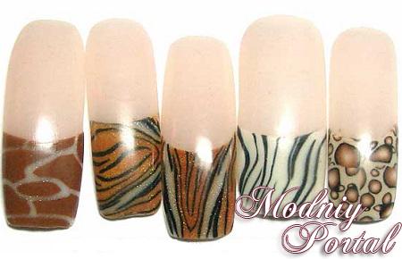 дизайн ногтей с животными: