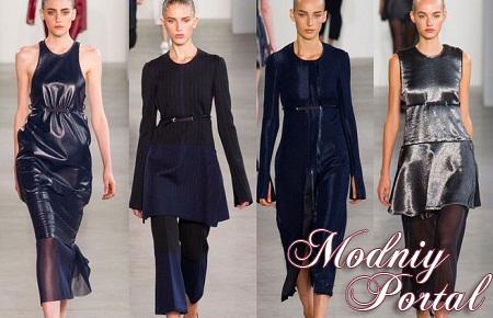 Во время Нью-Йоркской недели моды в четверг 11 сентября прошла трансляция модной женской одежды Calvin Klein весна - лето 2015