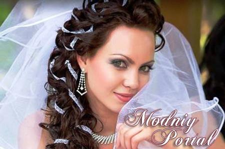 Фото на тему свадебные прически на распущенные длинные волосы фото.