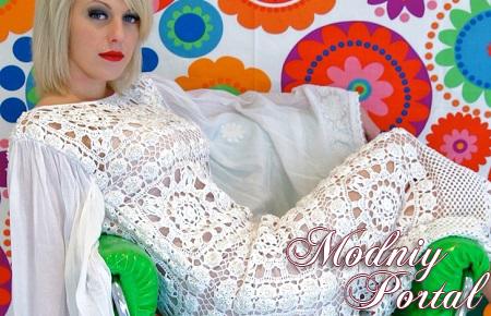 Вязаные крючком платья - модный тренд