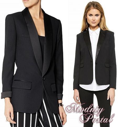 белая юбка и черный пиджак:
